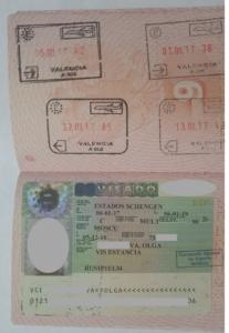 Виза Шенген фото штампов
